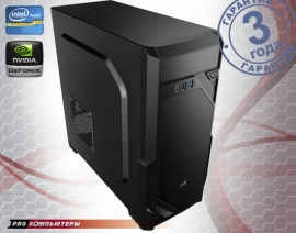 Игровой компьютер Intel Core i3-7100/ 8Gb DDR4/ 1Tb HDD/ GeForce GTX 1060/ DVD-RW