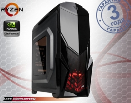Игровой компьютер AMD Ryzen 5 1400/ A320/ 8Gb DDR4/ 1Tb HDD/ GeForce GTX 1070/ DVD-RW