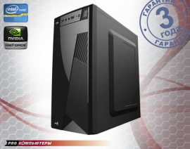 Игровой компьютер Intel Core i3-8100/ 8Gb DDR4/ 1Tb HDD/ GeForce GTX 1050/ DVD-RW